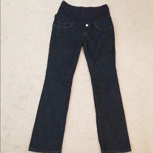 Zara Mom maternity dark wash jeans